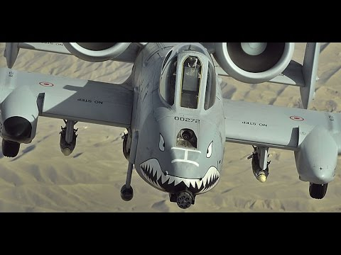 A-10 Warthog Live Fire Training Mission - with live gunfire