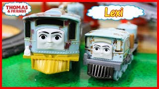 THOMAS AND FRIENDS THE GREAT RACE LEXI Journey Beyond Sodor Lexi Hurricane Merlin Frankie Theo