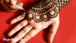 easy latest mehndi design for hands -  simple Bridal mehndi design for hands * New mehndi Art 2018