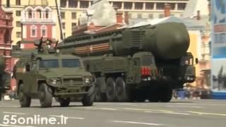 آتش گرفتن تانک روسیه در رژه میدان سرخ
