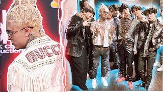 Así fue CAPTADO LIL PUMP tomándose una FOTO con BTS,  Billboard Music Awards los mejores outfits !
