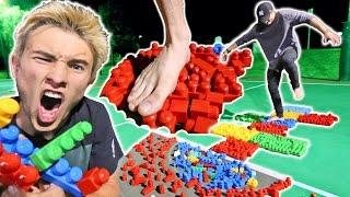 MEGA LEGO HOPSCOTCH! *PAINFUL GAME*