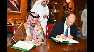 سمو الأمير خالد بن عبدالعزيز بن عيّاف وزير الحرس الوطني يوقّع عقد استكمال اسكان الحرس الوطني بالرياض