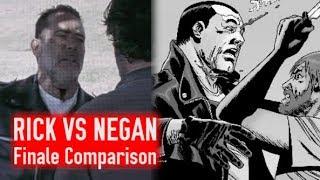 Rick VS Negan Finale Comparison - TV Show VS Comic Book (The Walking Dead Season 8)