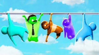 FALL 1000 FT IF YOU LET GO! (The Pals play Gang Beasts)