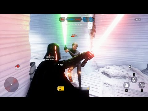 Xxx Mp4 Star Wars Battlefront Beta Darth Vader VS Luke Skywalker EPIC HERO FIGHT SWBF Funny Moments 3gp Sex