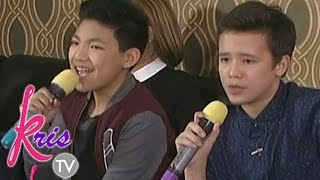 Darren & JK sing 'When I Was Your Man' on Kris TV