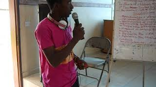 Alusine Rehme Wilson Presenting @SLTU Makeni Office On The Education Challenges & Solutions