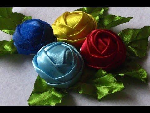 Tecnica diferente de fazer Rosas DIY FABRIC FLOWERS