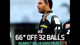 Top 5 IPL knocks of Yuvraj Singh