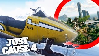 JUST CAUSE 4 NEW CITY, SNOWMOBILE & ANIMALS! Just Cause 4 New Biomes Gameplay Analysis