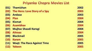 Priyanka Chopra  Movies List