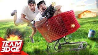 Fortnite Shopping Cart Shootout | IRL!!