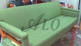 DIY: HOW TO REUPHOLSTER A SOFA - ALO Upholstery
