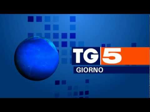 PROTOTIPO nuova sigla TG5 con nuova sintonia