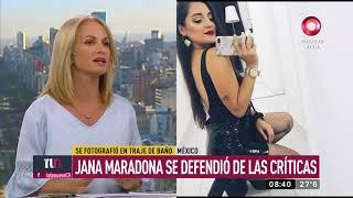 Jana Maradona se defendió de las críticas