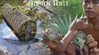 Primitive Skills Making a Fish Trap Box From Bamboo    Survival Skills    Primitive Survival Skills