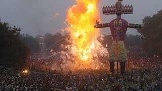 Dussehra Festival 2014 - Burning Ravana Effigies in Amritsar, India