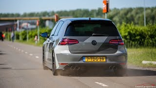 LOUD Volkswagen Golf 7 R w/ Armytrix Exhaust - Launch Controls & Accelerations !