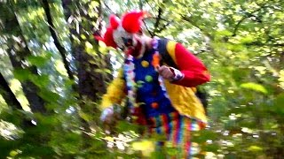 CREEPY CLOWN ATTACKS KIDS IN THE WOODS!