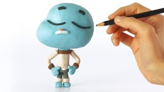 Gumball 💕Superhero Play Doh Stop Motion Cartoons For Kids
