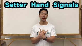 Front Row Setter Hand Signals PART 1/2 - Volleyball Tutorial
