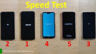 Real Me 2 vs Honor 9N vs Redmi 6 Pro vs Redmi Note 5 Pro vs Asus Zenfone Max Pro M1 Speed Test