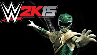 WWE 2K15 / White Ranger vs Green Ranger! (CaRtOoNz vs H2O Delirious)
