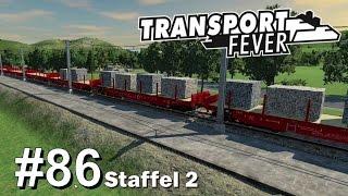TRANSPORT FEVER S2/#86: Stein-Transporte auf der Schiene [Let's Play][Gameplay][German][Deutsch]