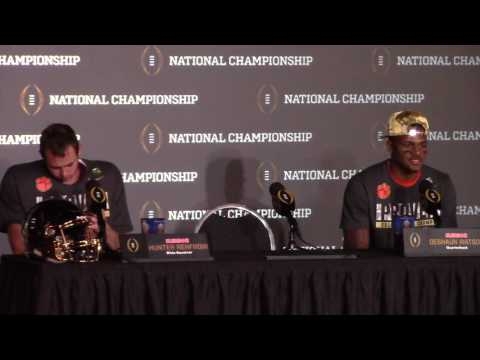 TigerNet Watson Renfrow postgame press conference after winning National Championship