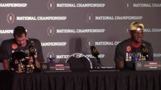 TigerNet.com - Watson, Renfrow postgame press conference after winning National Championship
