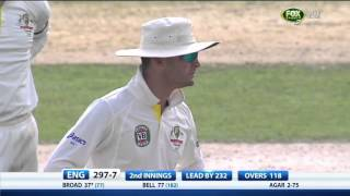 Stuart Broad's Controversial Dismissal - Day Three, First Ashes Test, 2013