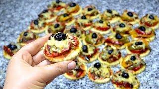 بيتزا فردية بدون فرن سريعة بدون اختمار وبدون دلك في 10 دقائق بدون حليب راااائعة وهشة جداااا