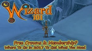 Wizard101 - Free Crowns & Membership - Where to Find It In 2017