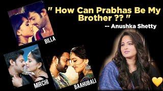 Anushka Shetty gives a clarity on Prabhas | Prabhas and Anushka | Rana Daggubati .