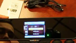 The Falcon Zero F360 HD Dual Camera Car Mirror DVR Accident Recorder. Instructional Video,