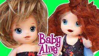 Baby Alive  Blonde  Lily Kardeşler YENİ Peruk Takıyor | Nasıl Yapılır | Oyuncak Butiğim