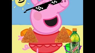 MLG peppa pig goes to the beach