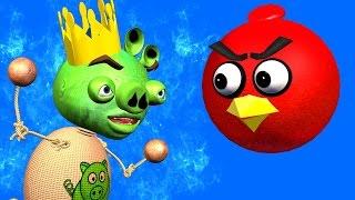 BUDDYMAN KICK & ANGRY BIRDS: Kick The Pig ♫ 3D animated  movie mashup  ☺ FunVideoTV - Style ;-))