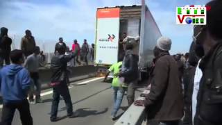 channel euro news migrant problem in calais