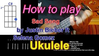 How to play Sad Song  by We The Kings ft  Elena Ukulele Cover