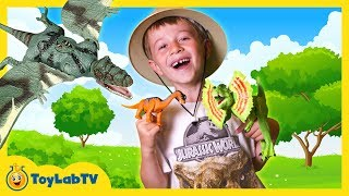 Dinosaur Toy Hunt with Jurassic World & Animal Planet Dinosaurs Surprise Toys Opening, Kids Video