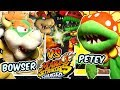 ABM: Bowser Vs Petey Plant !! Mario Striker Charged !! Gameplay Match !! HD