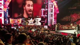 WWE Seth Rollins almost gets attacked by a fan in Corpus Christi Texas August 15th 2016