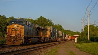 Fairport, NY Railfanning 5/30/14: CSX Loaded Coal, CN GEVO w/Cowl Unit, UP, and more!