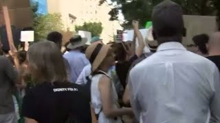 """Counter-protesters arrive at """"Unite the Right"""" rally in Washington, D.C."""