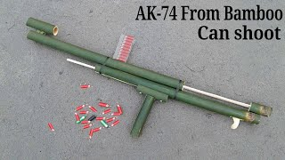 How to make a AK-74 GUN Using Bamboo