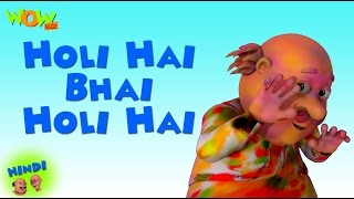 Holi Hai Bhai Holi Hai - Motu Patlu in Hindi - ENGLISH SUBTITLES! - 3D Animation Cartoon for Kids