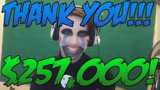 WE RAISED $257,000 FOR ST. JUDES!!!!!!!