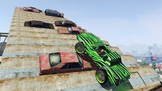 GTA 5 New DLC Donk Monster Jam Parkour Race